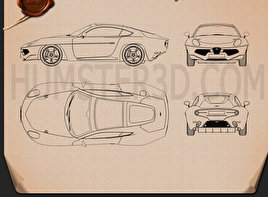 Alfa Romeo Disco Volante Touring 2013 Blueprint