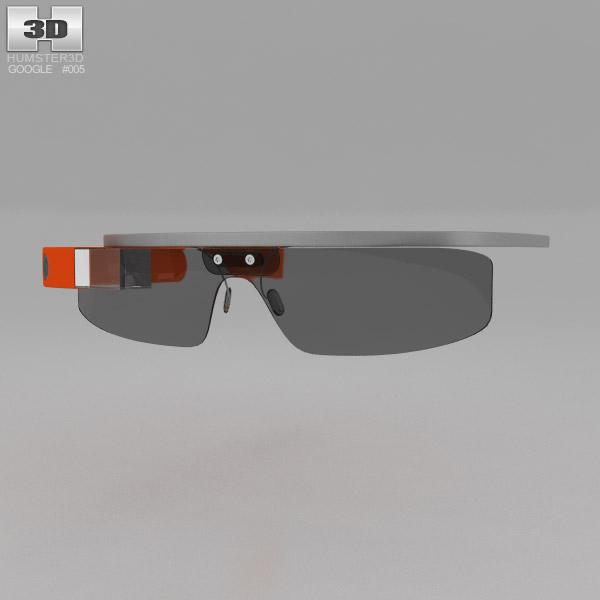 3D model of Google Glass