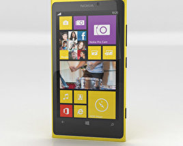 3D model of Nokia Lumia 1020 Yellow