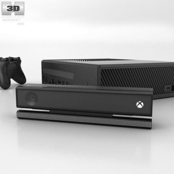 Microsoft X-Box One 720 with Kinect 3d model