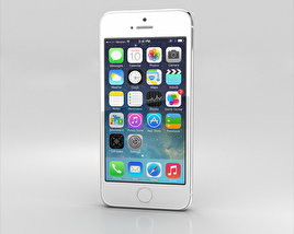3D model of Apple iPhone 5S Silver (White)