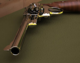 3D model of Smith & Wesson Model 29 8 inch