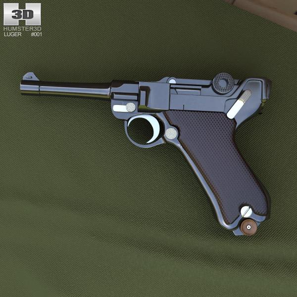 Luger P08 (Parabellum) 3d model