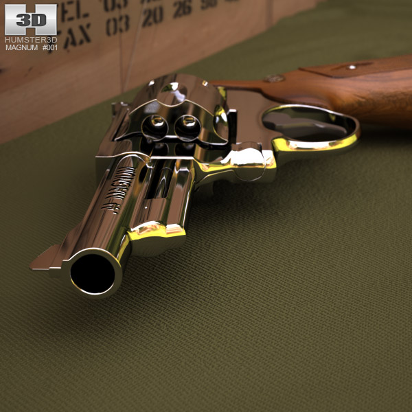 3D model of Smith & Wesson Model 29 4 Inc barrel