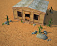 Wild West RailStation Saloon 02 Set 3d model