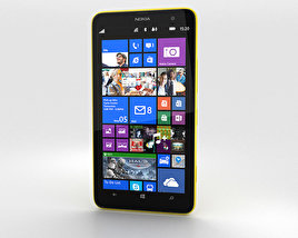 3D model of Nokia Lumia 1320 Yellow