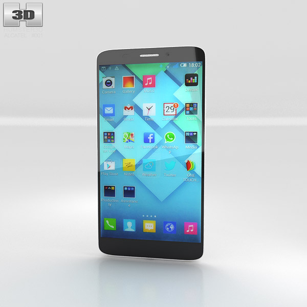 3D model of Alcatel One Touch Hero