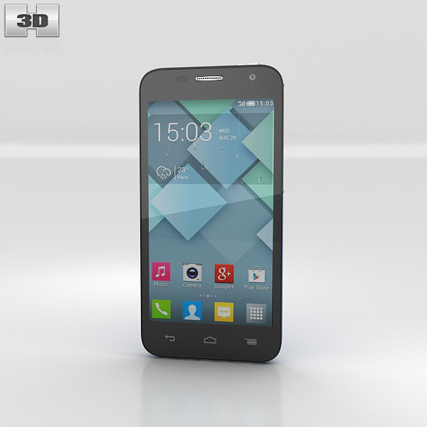 3D model of Alcatel One Touch Idol Mini