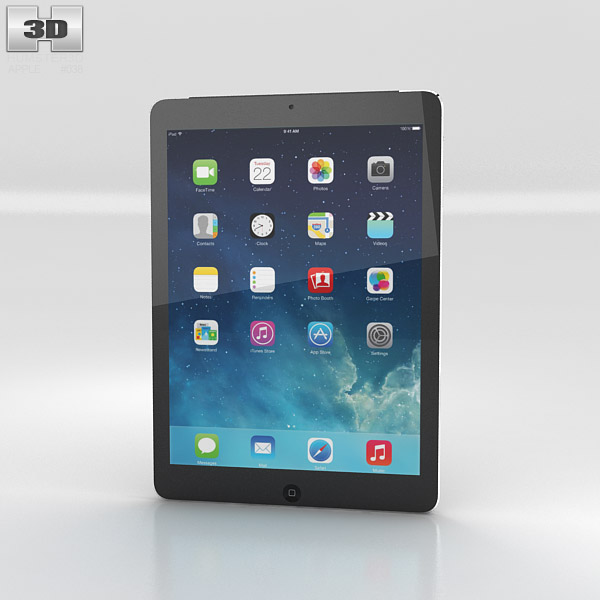 3D model of Apple iPad Air Space Gray Cellular