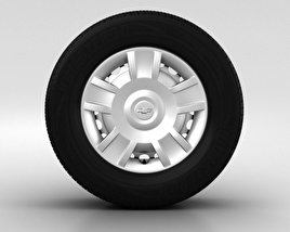 3D model of Chevrolet Aveo Wheel 14 inch 001