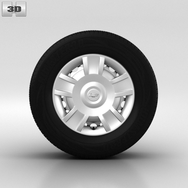 Chevrolet Aveo Wheel 14 inch 001 3D model