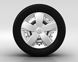 3D model of Chevrolet Aveo Wheel 15 inch 001