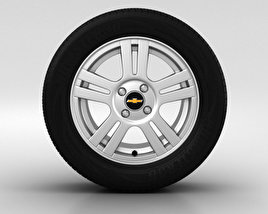 3D model of Chevrolet Aveo Wheel 15 inch 002
