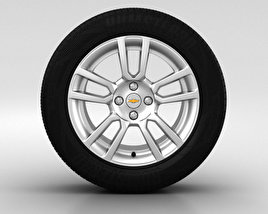 3D model of Chevrolet Aveo Wheel 16 inch 001