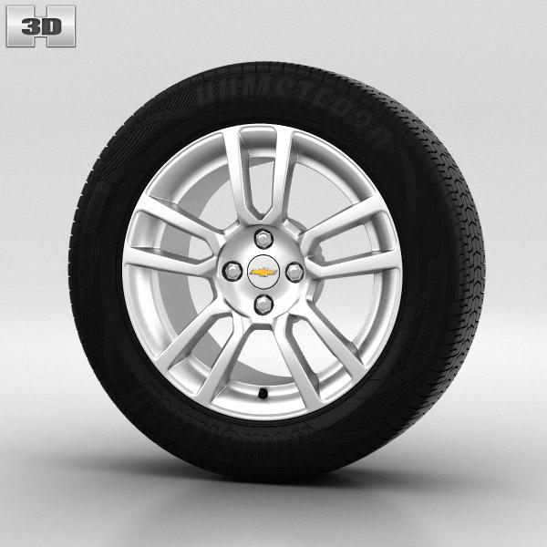 Chevrolet Aveo Wheel 16 inch 001 3d model