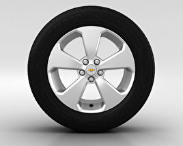 3D model of Chevrolet Cruze Wheel 17 inch 001
