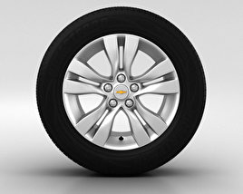 3D model of Chevrolet Cruze Wheel 17 inch 002