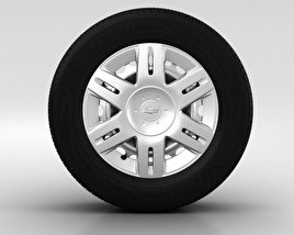 3D model of Chevrolet Lacetti Wheel 14 inch 001