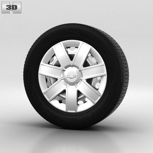 Chevrolet Lacetti Wheel 15 inch 001 3d model