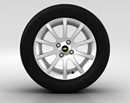 3D model of Chevrolet Lacetti Wheel 15 inch 002