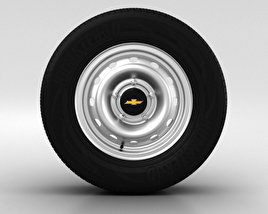 3D model of Chevrolet Niva Wheel 15 inch 001