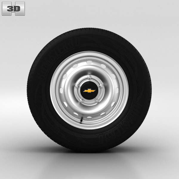 Chevrolet Niva Wheel 15 inch 001 3D model