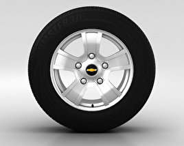 3D model of Chevrolet Niva Wheel 16 inch 001