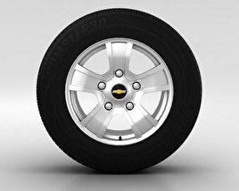 Chevrolet Niva 车轮 16 英寸 001 3D模型