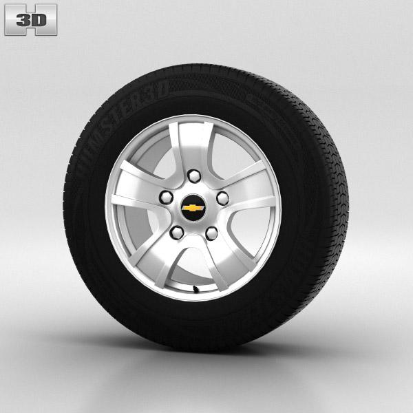 Chevrolet Niva Wheel 16 inch 001 3d model