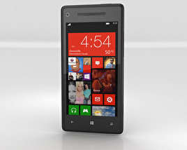 3D model of HTC Windows Phone 8X Graphite Black