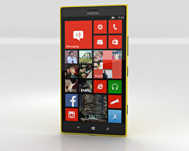 3D model of Nokia Lumia 1520 Yellow
