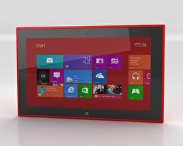 3D model of Nokia Lumia 2520 Red