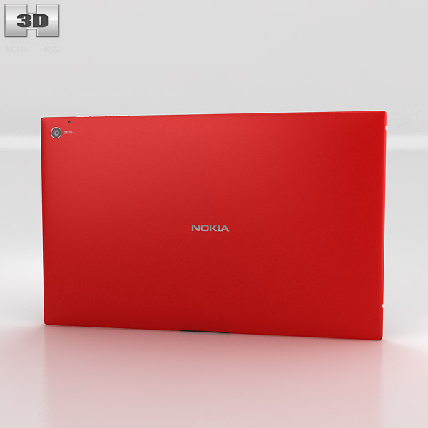 Nokia Lumia 2520 Red 3d model