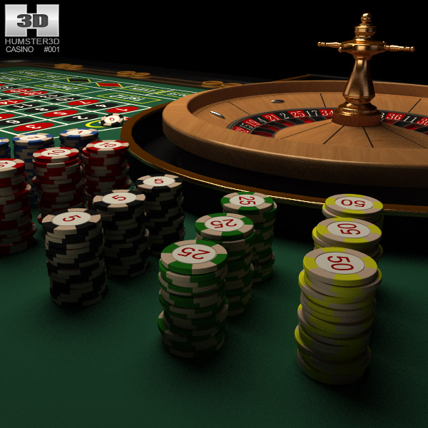 3D model of Casino Roulette Table