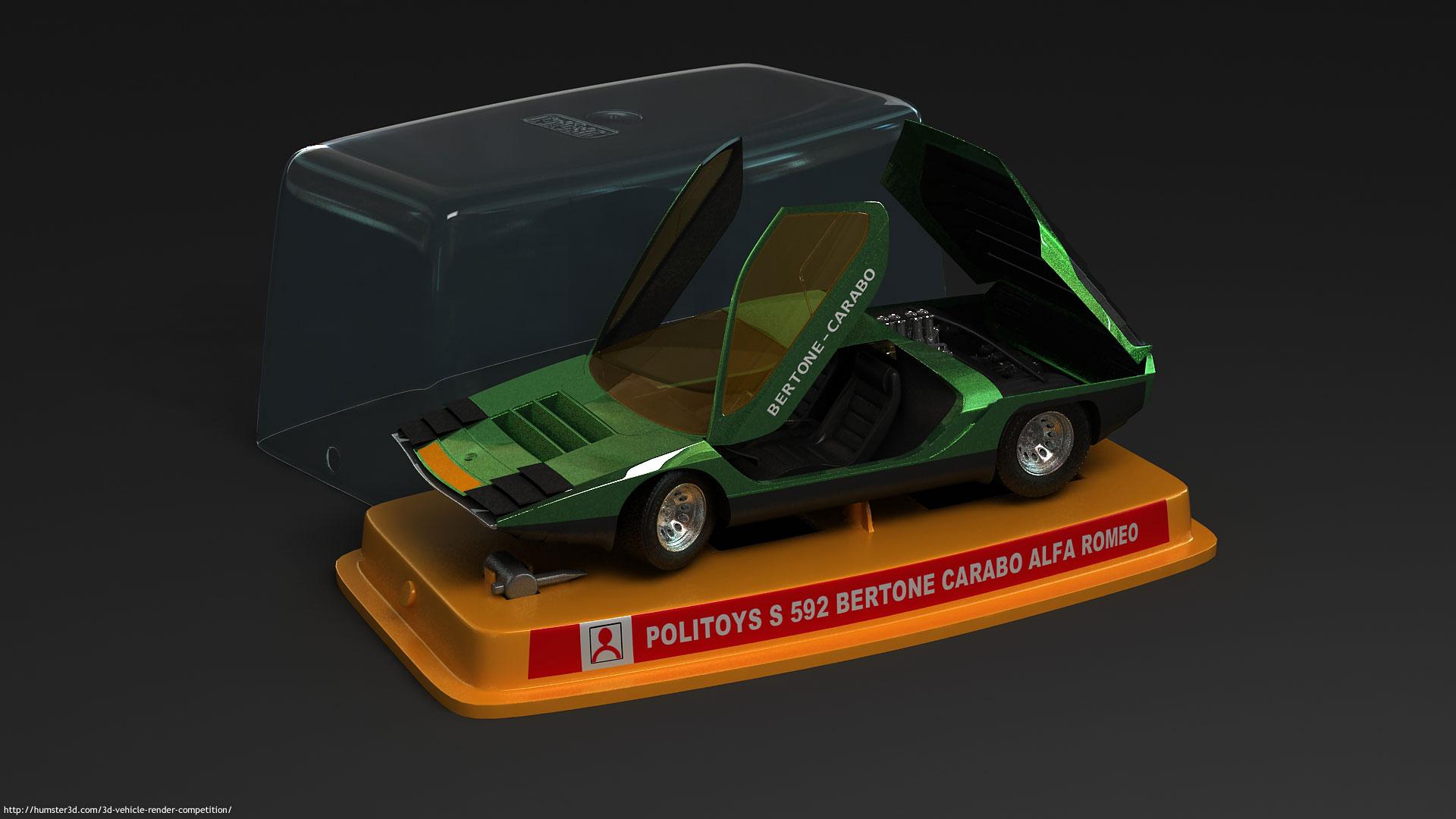 Alfa Romeo Carabo 3d art