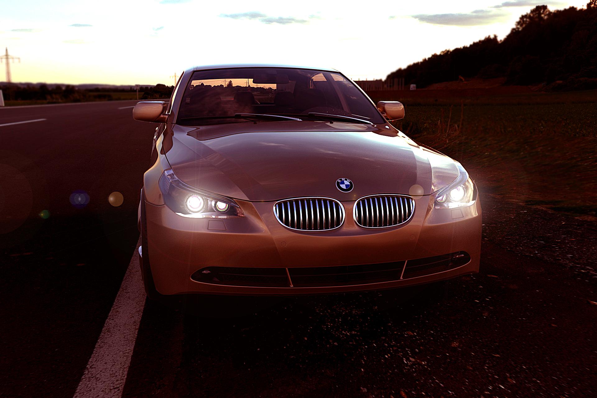 BMW 5 series 3d art