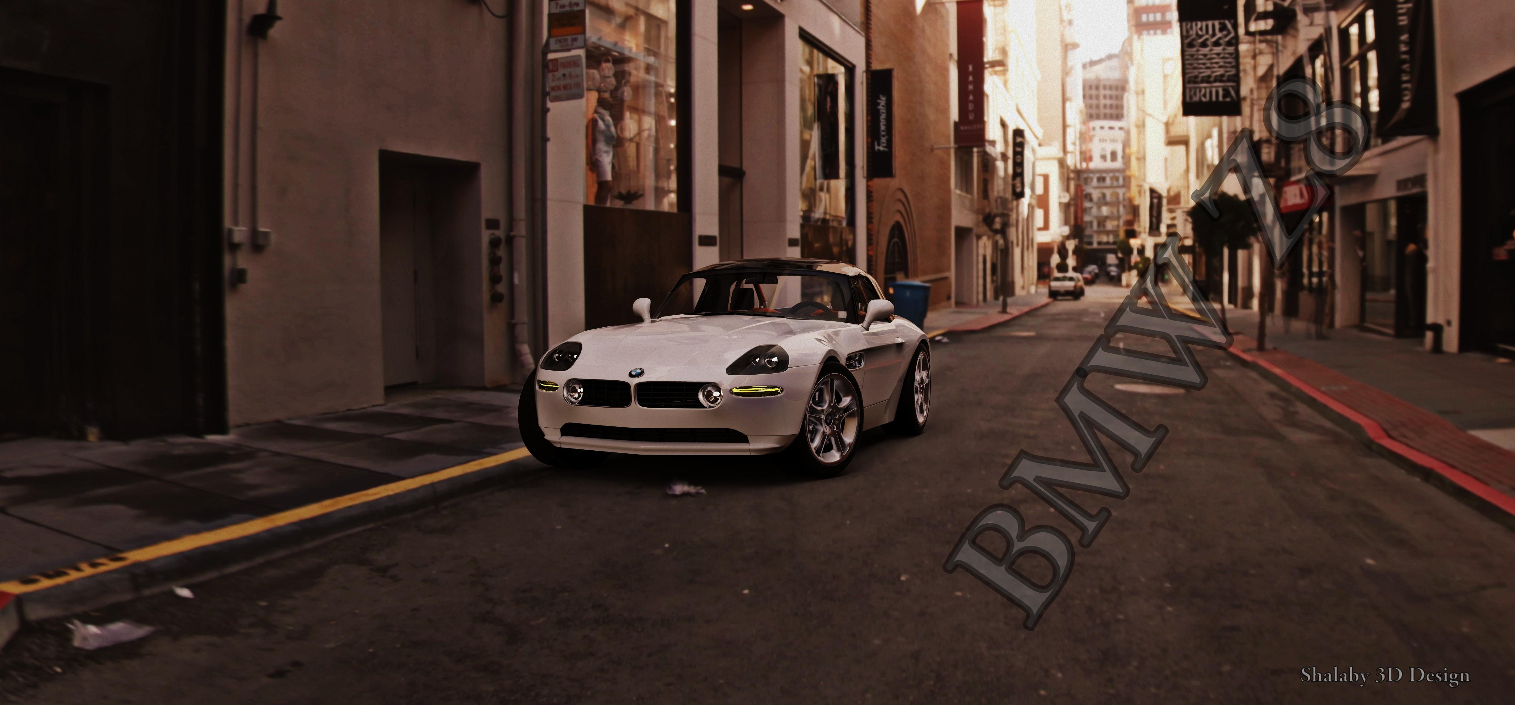 BMW Z8 roadster e52 1999 3d art