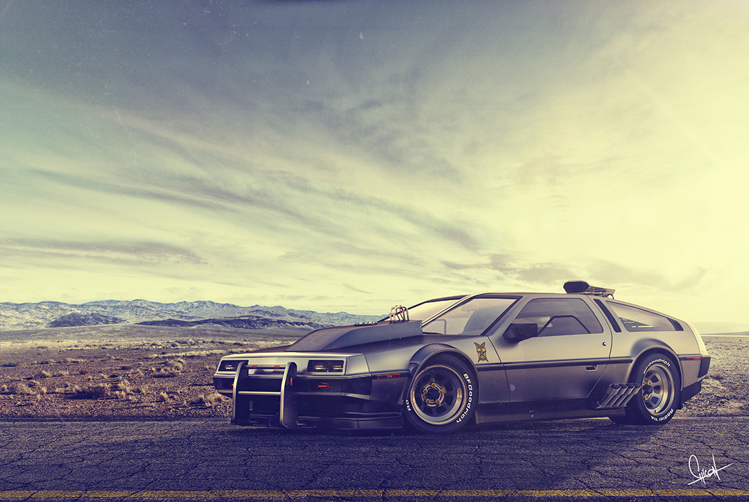 Back to the future 3d art