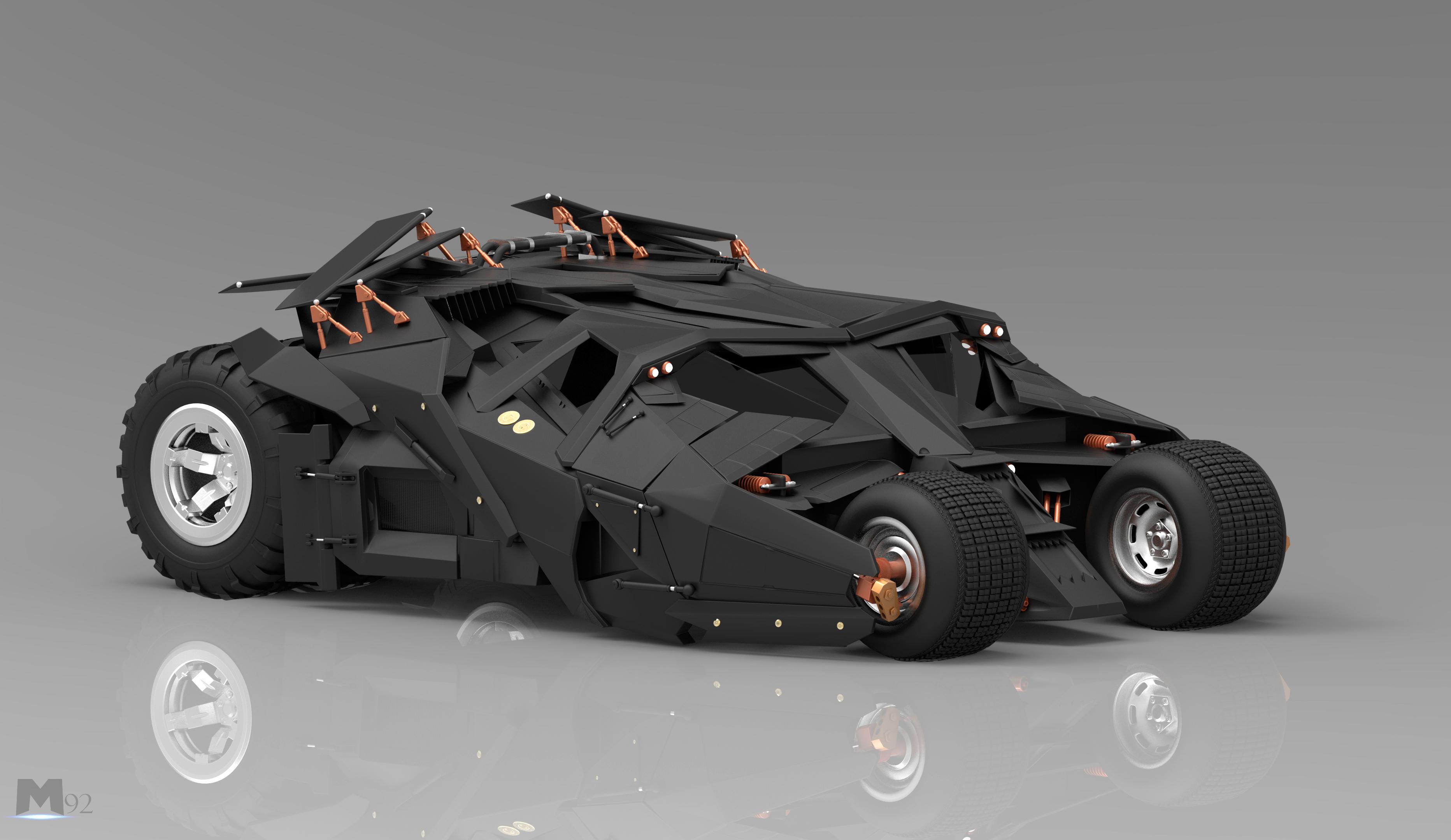 Batmobile 3d art
