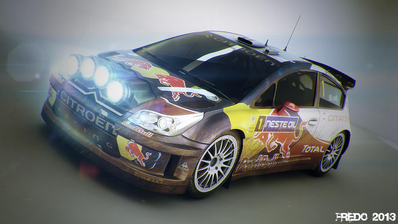 C4-WRC 3d art