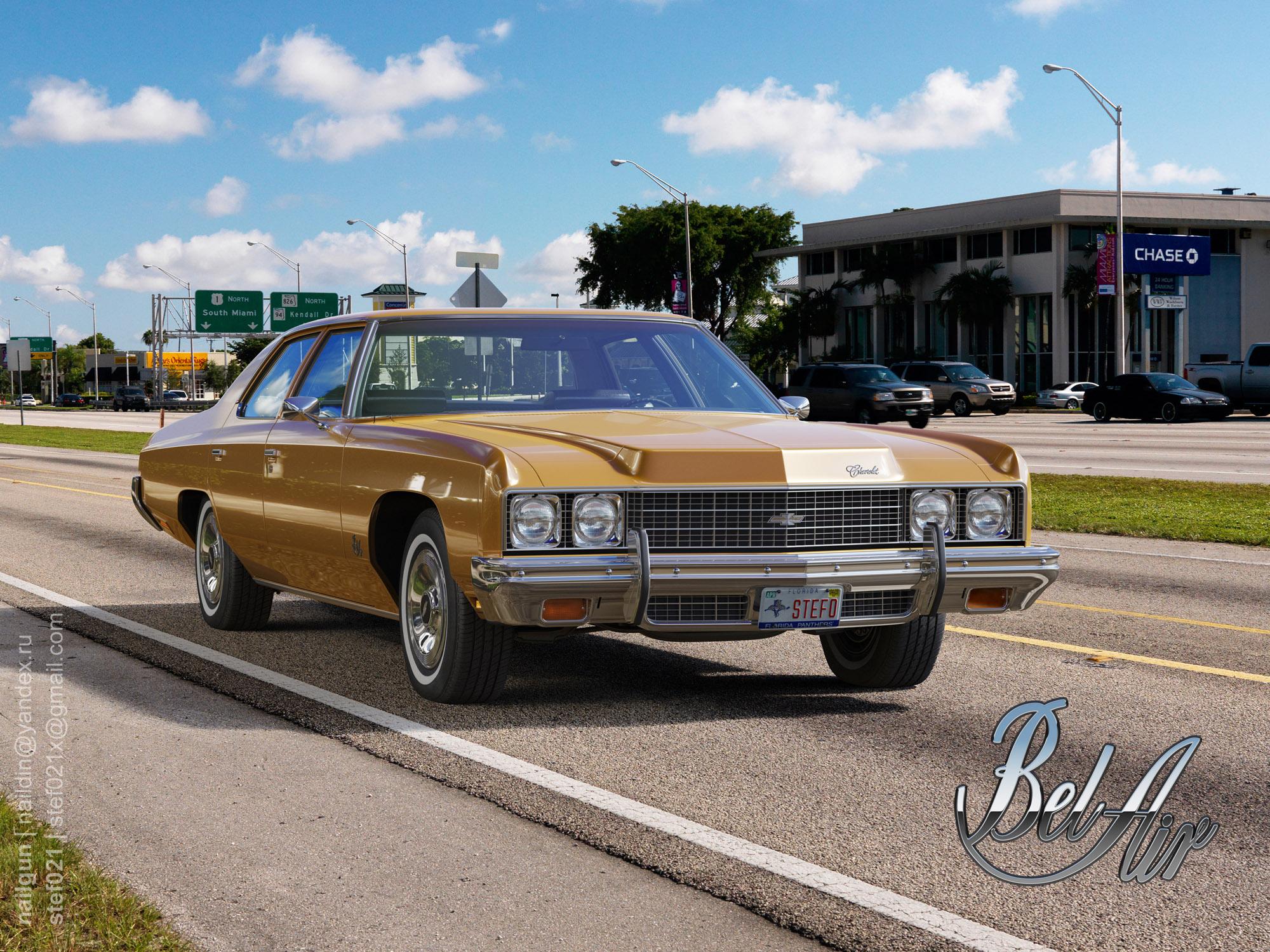 Chevrolet Bel Air `73 3d art