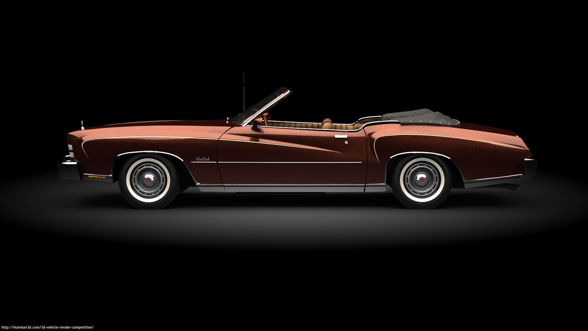 1973 Chevrolet Monte Carlo Cabriolet 3d art
