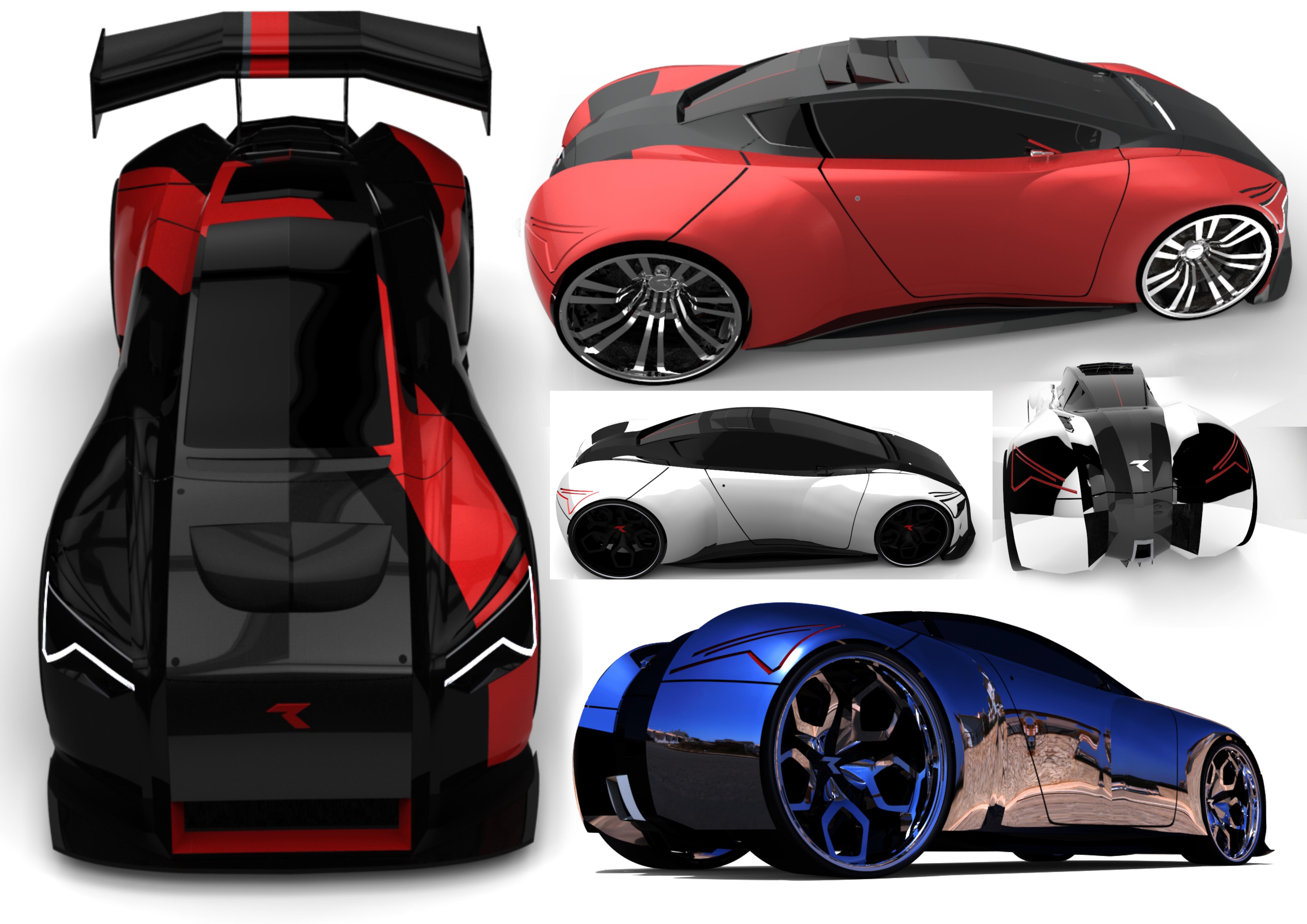 Concept Cars 3d art