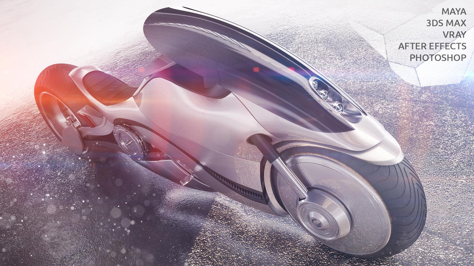 Concept bike Sci-fi 3d art