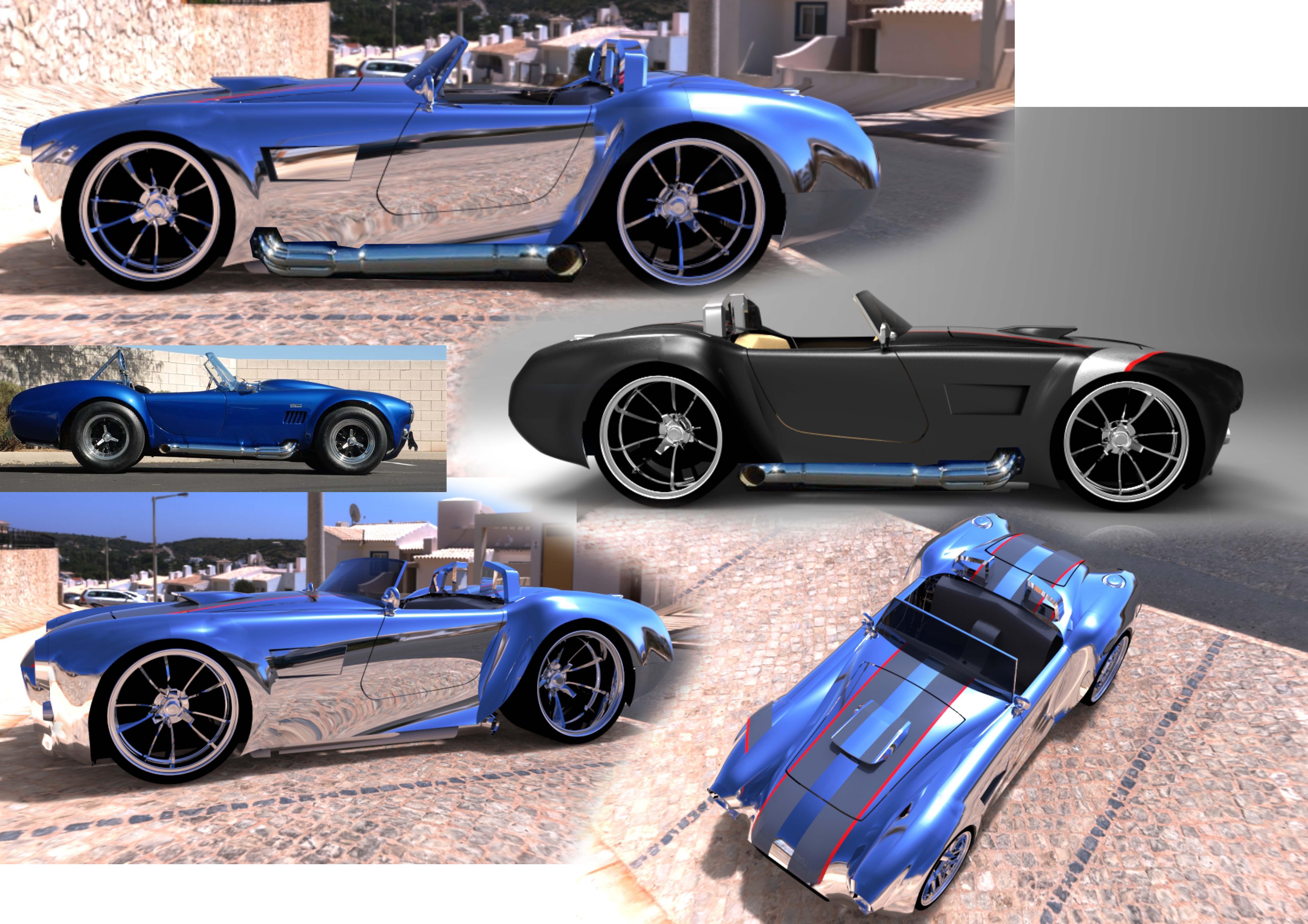 Concept car 427 Cobra 3d art