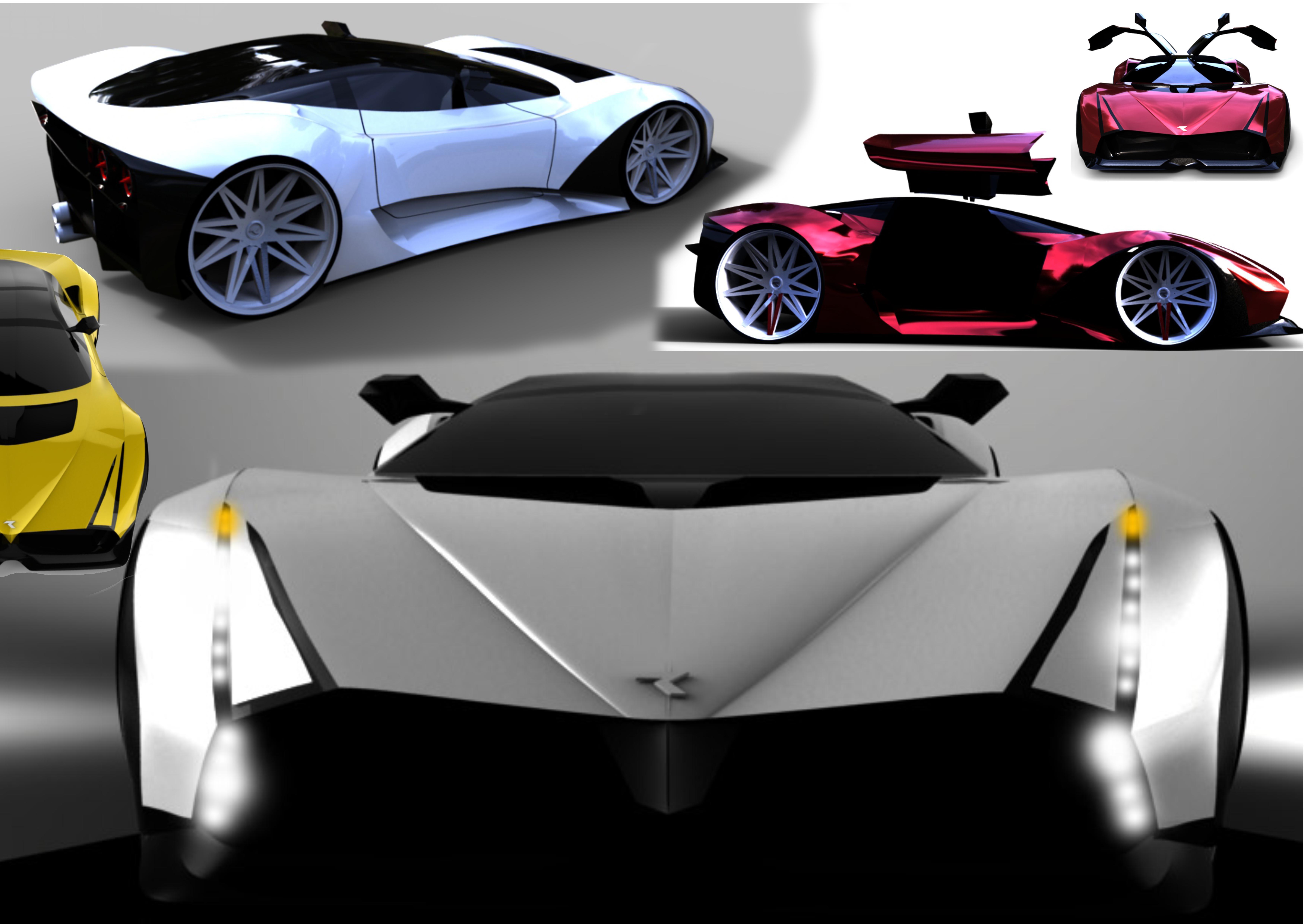 Concept car - black Hawk 3d art