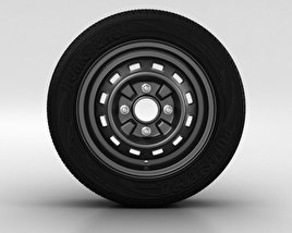 3D model of Daewoo Matiz Wheel 13 inch 001