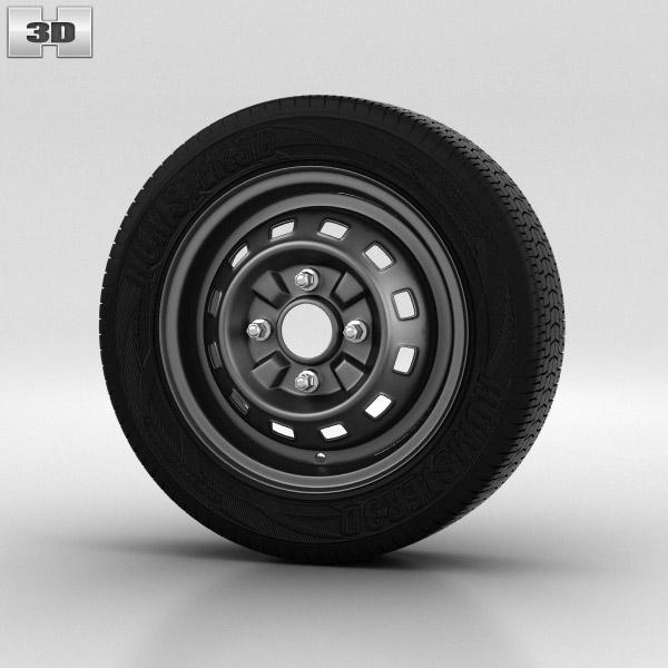 Daewoo Matiz Wheel 13 inch 001 3d model