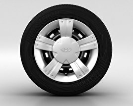 3D model of Daewoo Matiz Wheel 13 inch 002