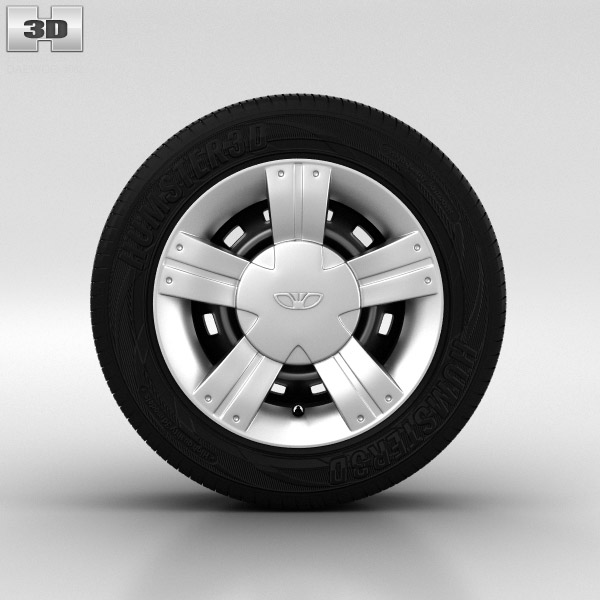 Daewoo Matiz Wheel 13 inch 002 3D model